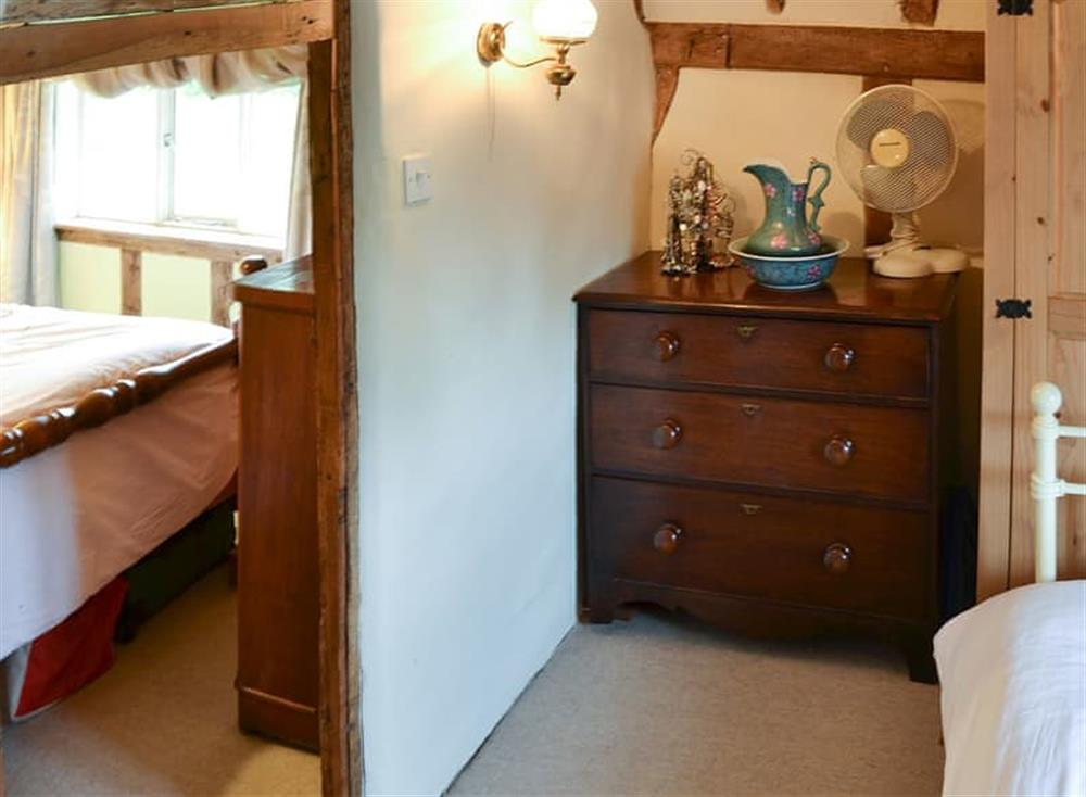 Modest dressing area off the main bedroom at Tattlepot Farmhouse in Pulham Market, near Diss, Norfolk