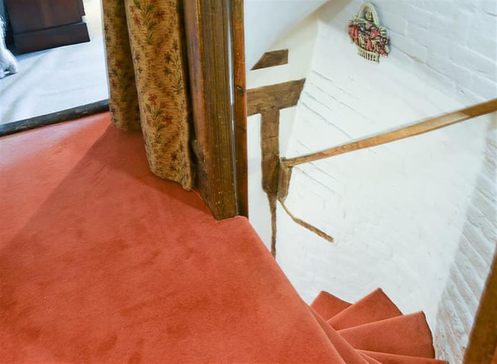 Turning staircase at Tattlepot Farmhouse in Pulham Market, near Diss, Norfolk
