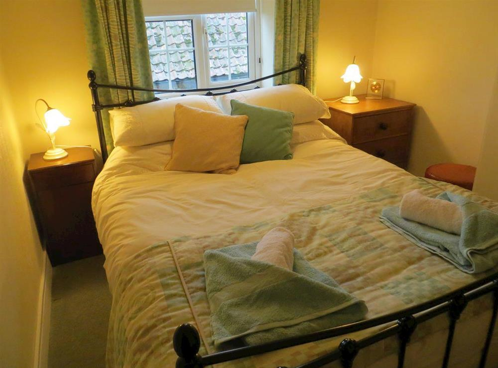 Double bedroom at Teapot Cottage in Helhoughton, near Fakenham, Norfolk, England