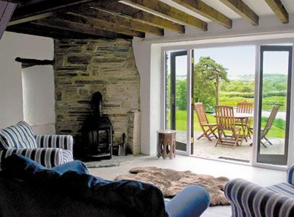 Living room at Teifi in Llangoedmor, Nr Cardigan, Dyfed., Great Britain