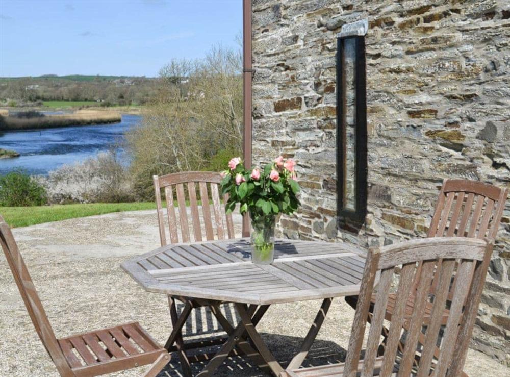 Sitting-out-area at Teifi in Llangoedmor, Nr Cardigan, Dyfed., Great Britain
