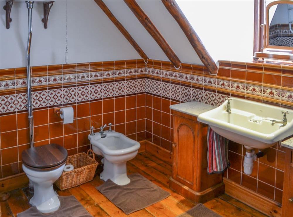 Bathroom at Thatched Cottage in Witton, near North Walsham, Norfolk