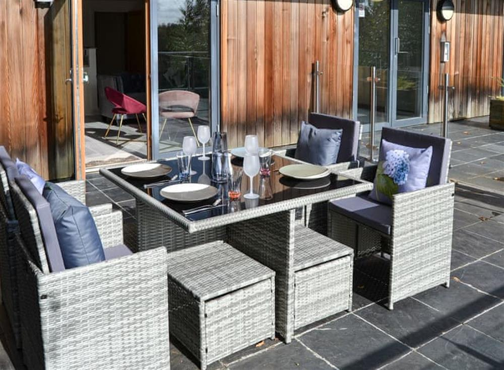 Outdoor dining area at The 1 in Thorpe St Andrews, near Norwich, Norfolk