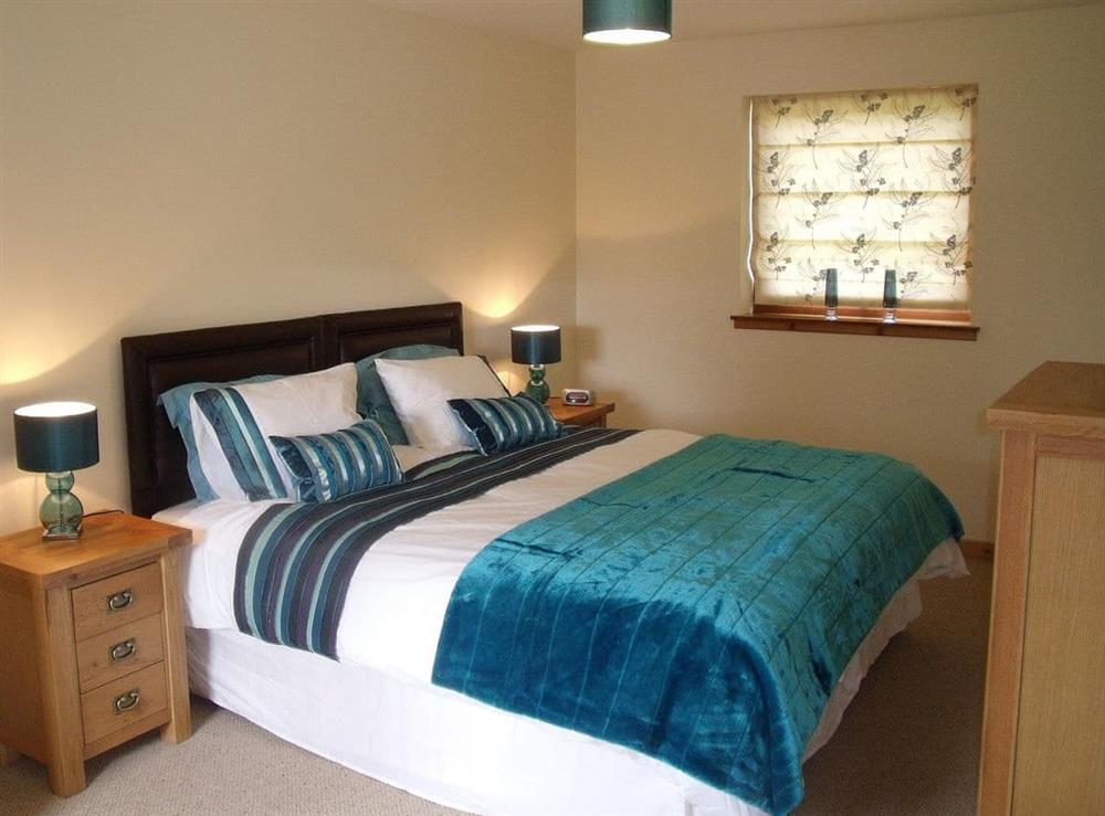 Double bedroom at The Barn in Lairg, Sutherland