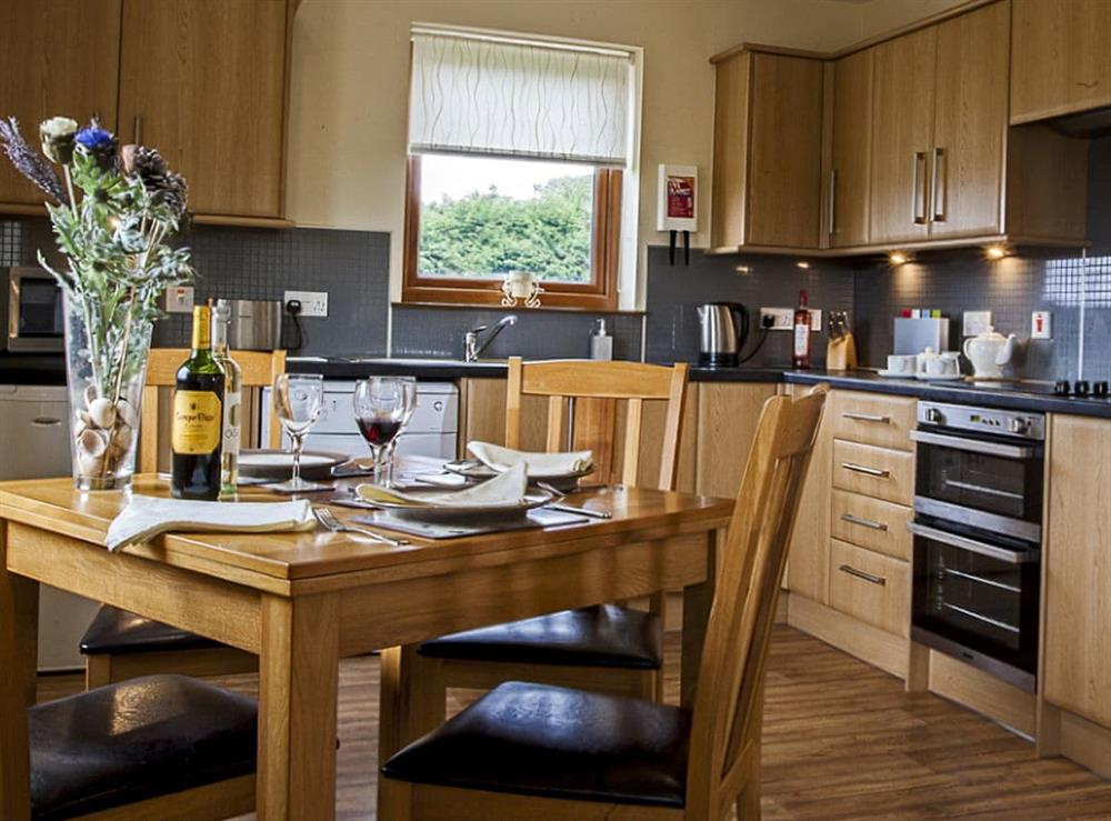 Kitchen/diner at The Barn in Lairg, Sutherland