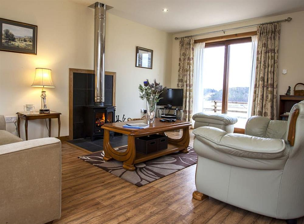 Living room at The Barn in Lairg, Sutherland