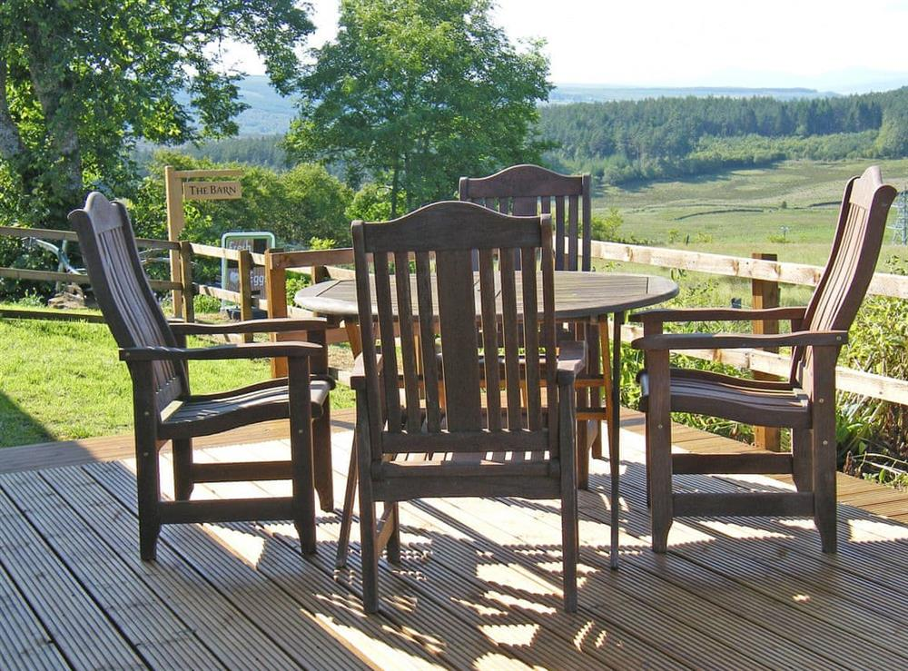 Sitting-out-area at The Barn in Lairg, Sutherland