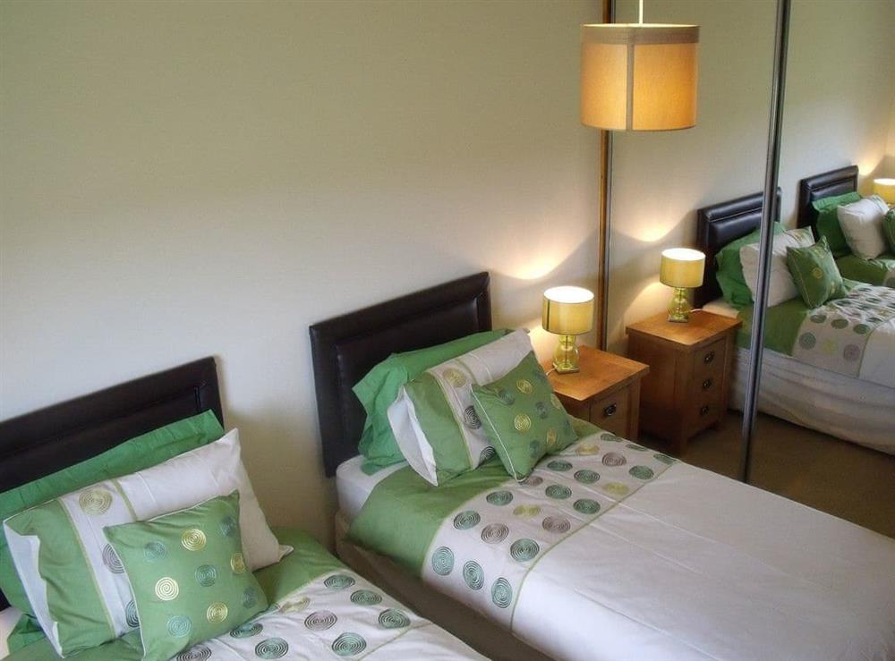 Twin bedroom at The Barn in Lairg, Sutherland