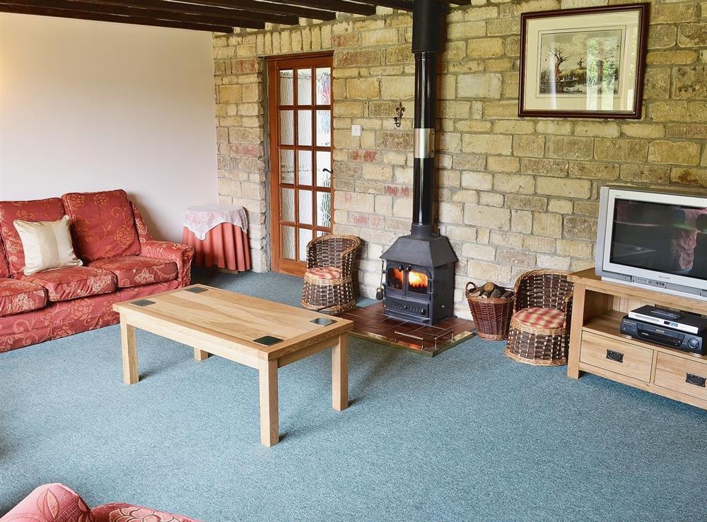 Living room at The Barn in Todber, near Sturminster Newton, Dorset