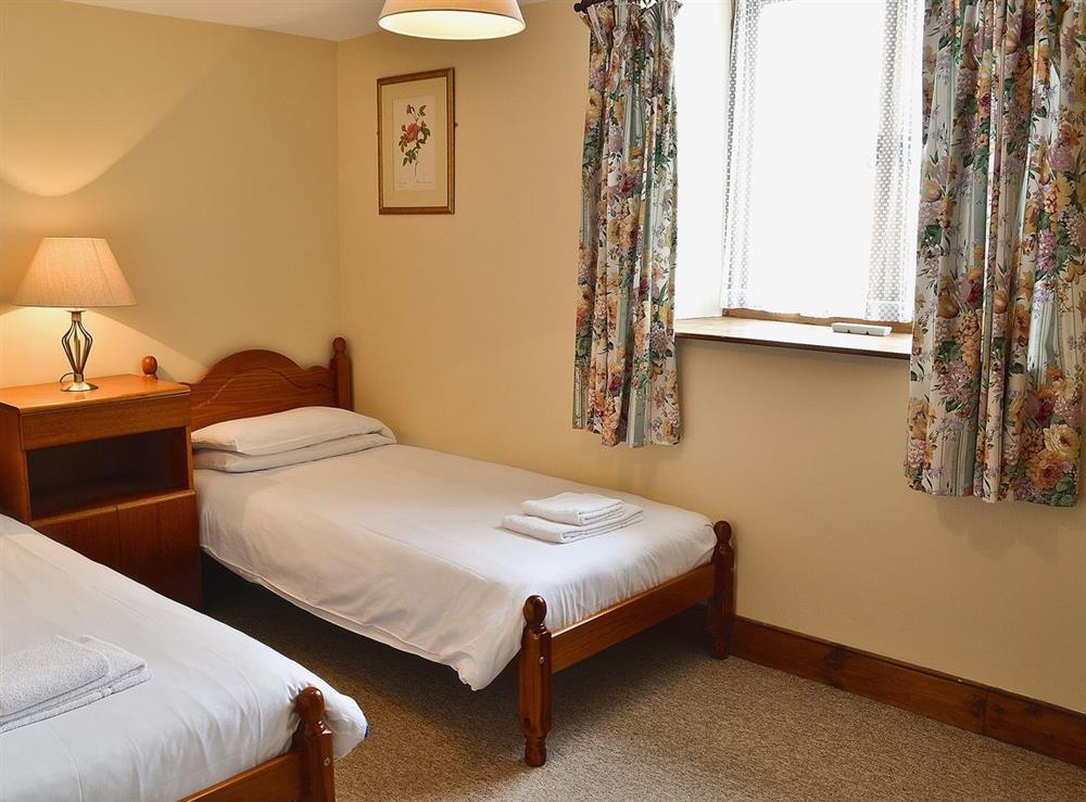 Twin bedroom at The Barn in Todber, near Sturminster Newton, Dorset
