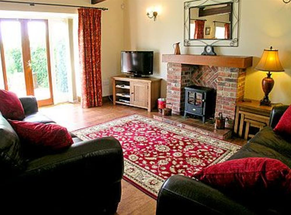Living room at The Barn in West Stour, near Shaftesbury, Dorset