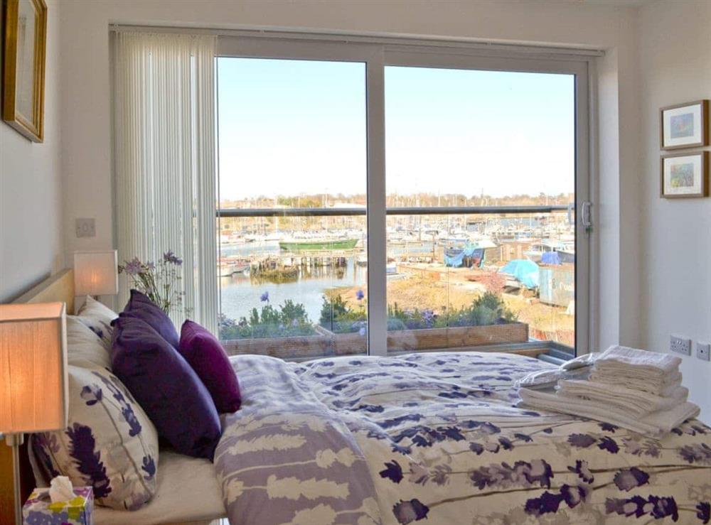 Double bedroom at The Barnacle in Oulton Broad, near Lowestoft, Suffolk