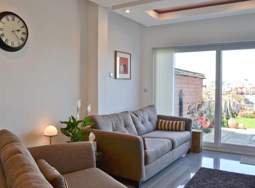 Open plan living/dining room/kitchen at The Barnacle in Oulton Broad, near Lowestoft, Suffolk