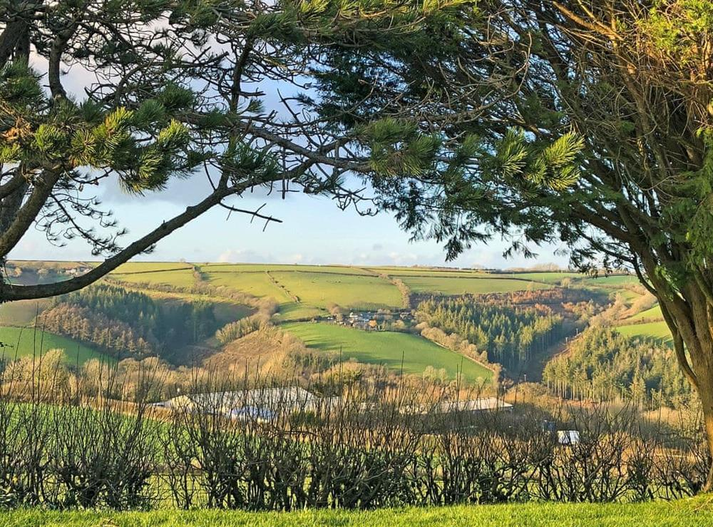 Stunning countryside views at The Beach Hive in Norton Park, Devon