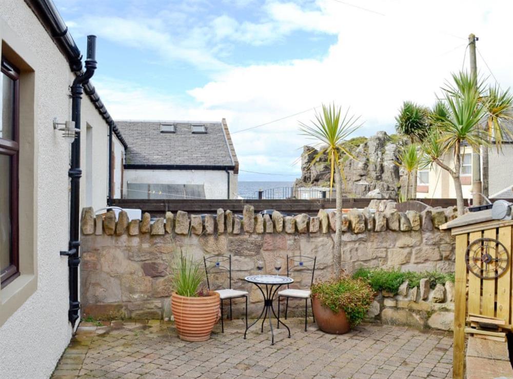 Patio at The Beach House in Ayr, Ayrshire