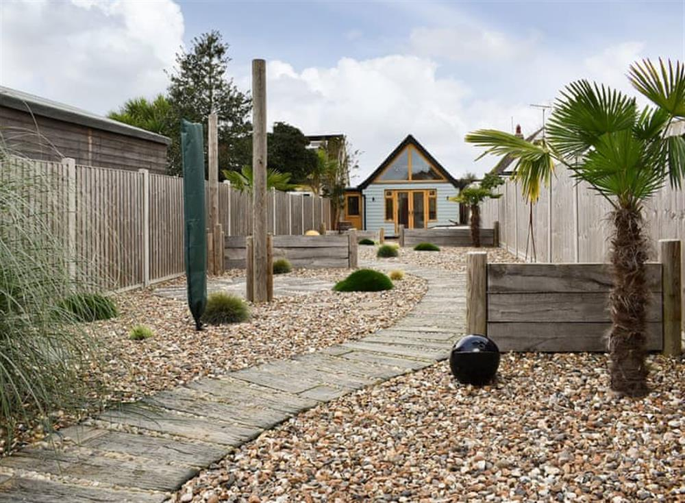 Landscaped coastal garden with a seaside theme at The Beach House in Holland-on-Sea, Essex
