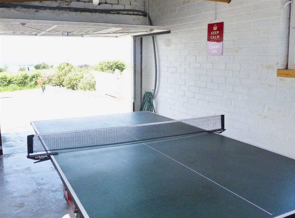 Games room at The Beach House in Maidens, Ayrshire