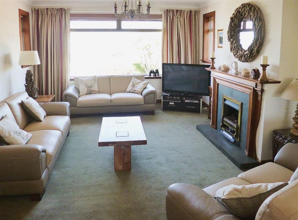 Living room at The Beach House in Maidens, Ayrshire