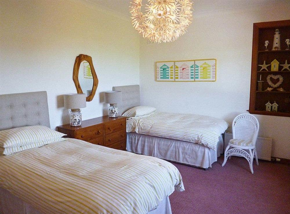 Twin bedroom at The Beach House in Maidens, Ayrshire
