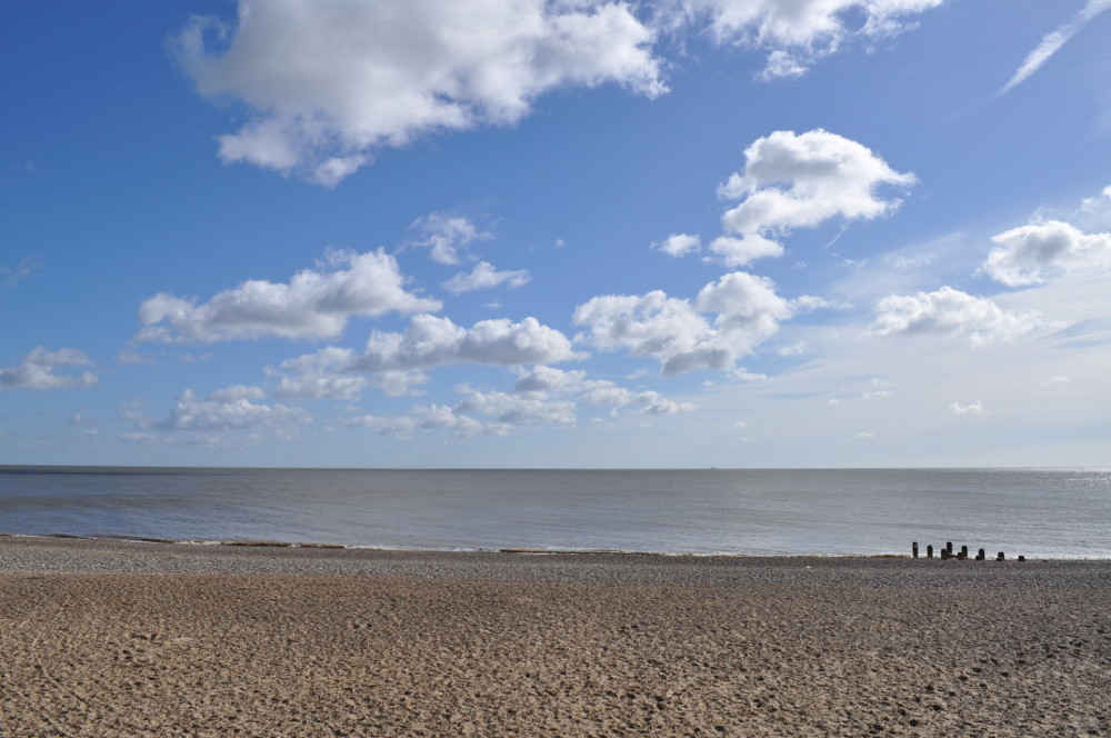 The coast at Corton at The Beech House in Corton near Lowestoft in Suffolk
