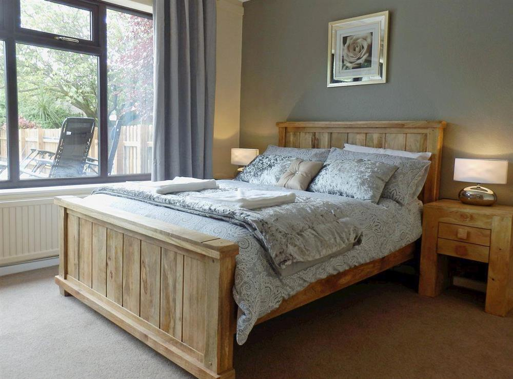 Comfortable double bedroom at The Beech House in Corton, near Lowestoft, Suffolk