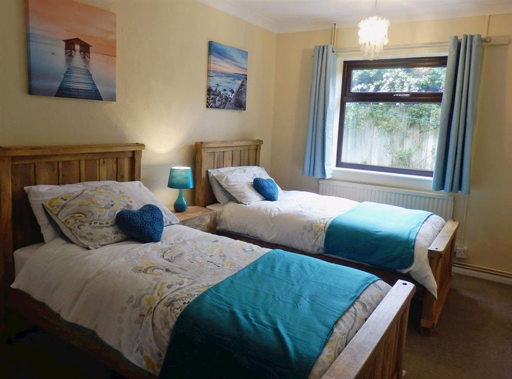 Cosy twin bedroom at The Beech House in Corton, near Lowestoft, Suffolk