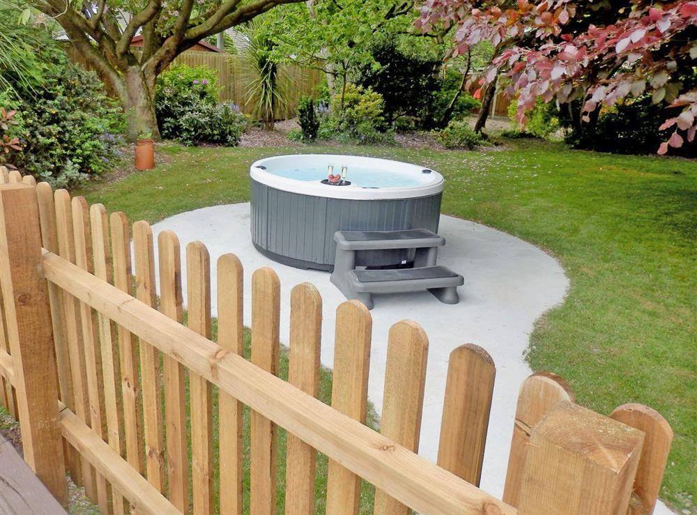 Hot tub at The Beech House in Corton, near Lowestoft, Suffolk