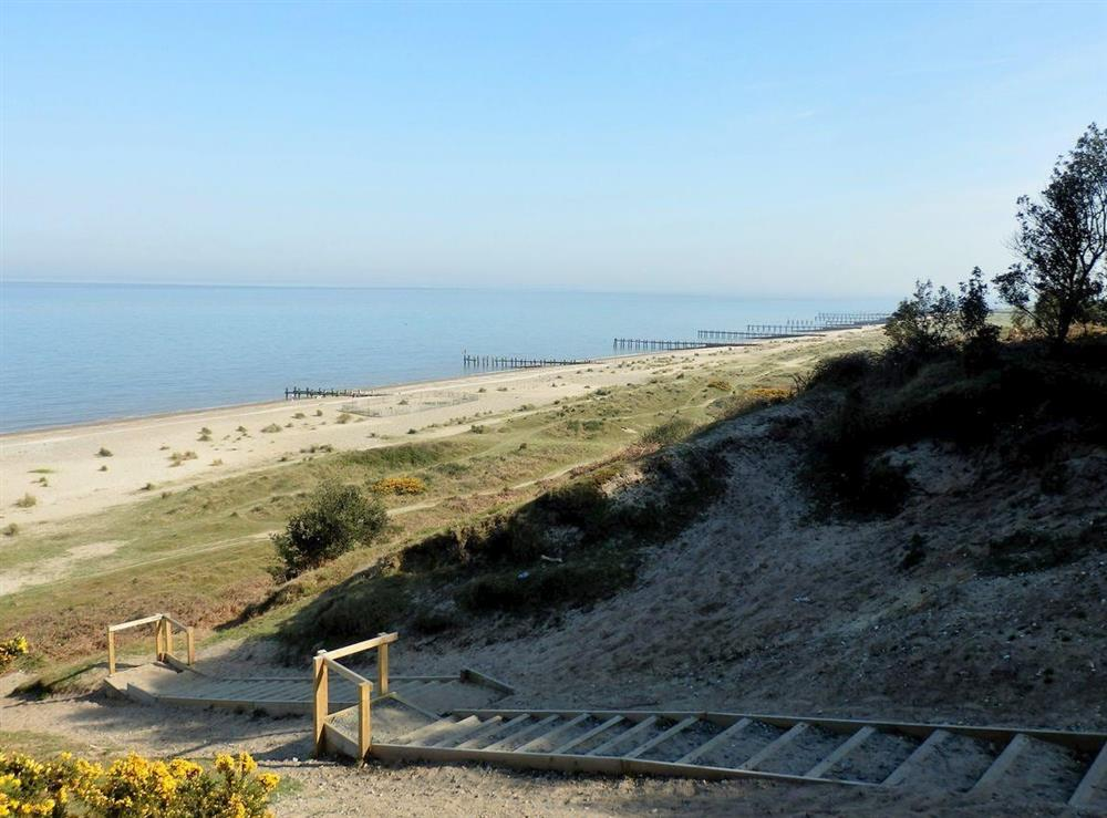 Just 350 yards to the beach at The Beech House in Corton, near Lowestoft, Suffolk