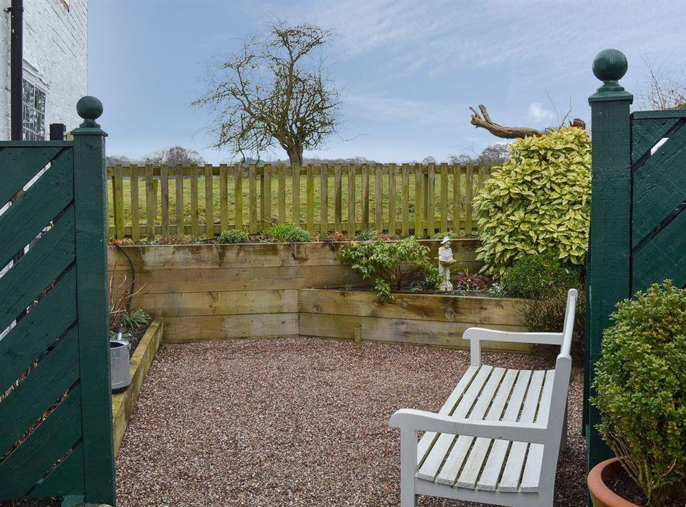 Private secluded seating area at The Beehive in Betley, near Crewe, Staffordshire