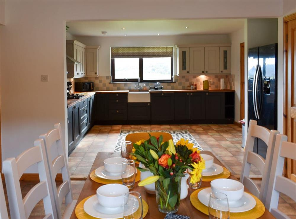 Dining room at The Big Hoose in Linside, Sutherland