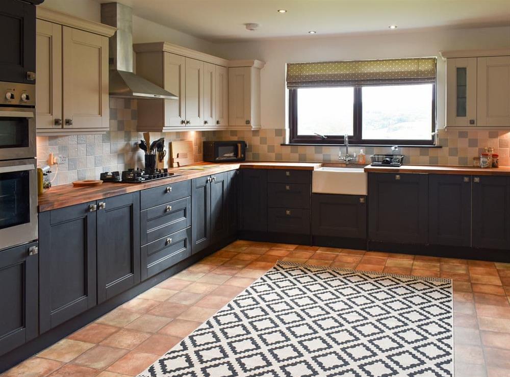 Kitchen at The Big Hoose in Linside, Sutherland