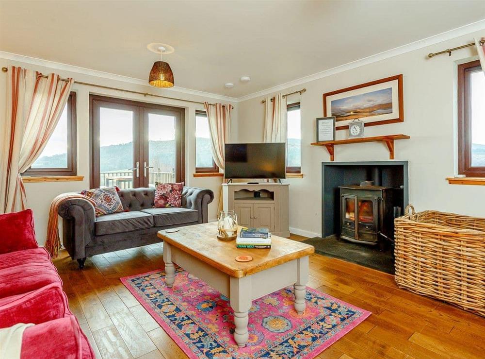 Living room at The Big Hoose in Linside, Sutherland
