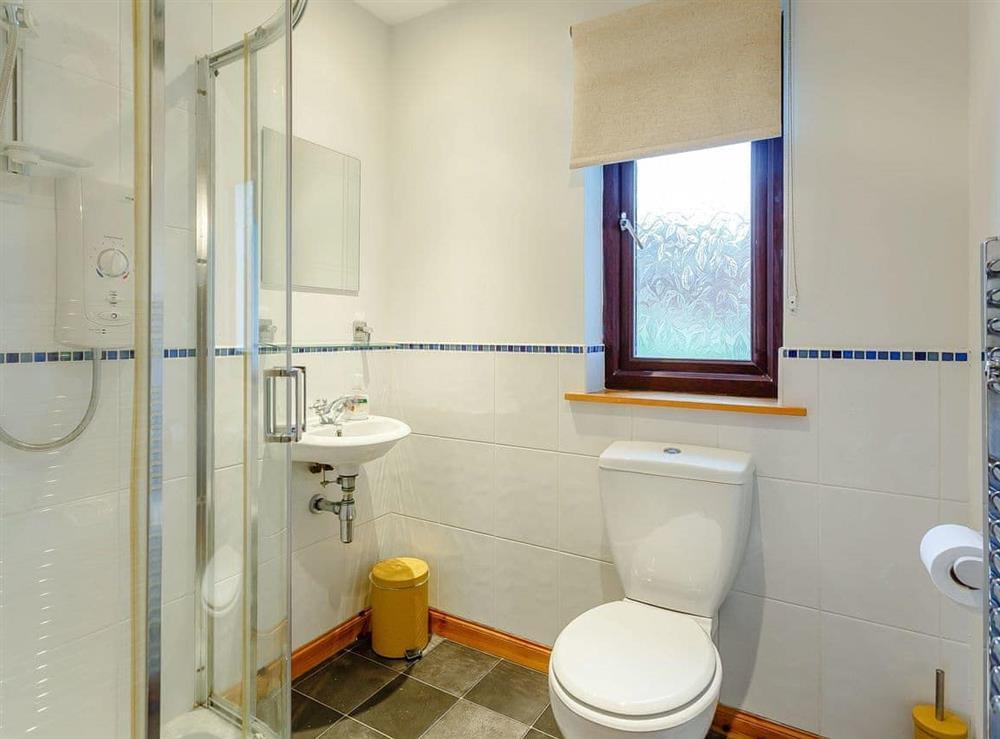 Shower room at The Big Hoose in Linside, Sutherland