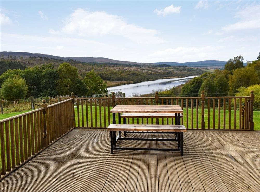 View at The Big Hoose in Linside, Sutherland