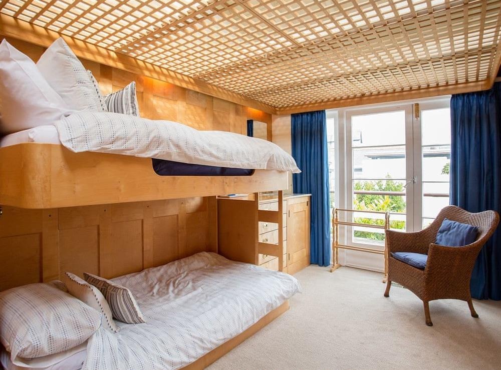 Bunk bedroom at The Boat House in Dartmouth, South Devon., Great Britain