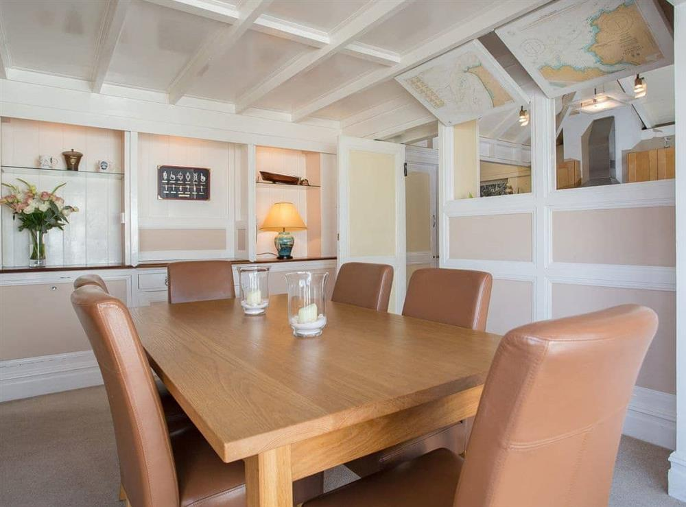 Dining room at The Boat House in Dartmouth, South Devon., Great Britain