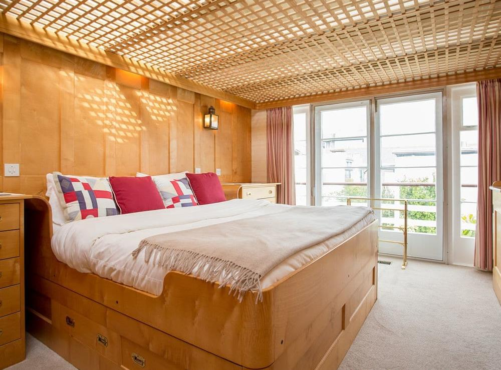 Double bedroom at The Boat House in Dartmouth, South Devon., Great Britain