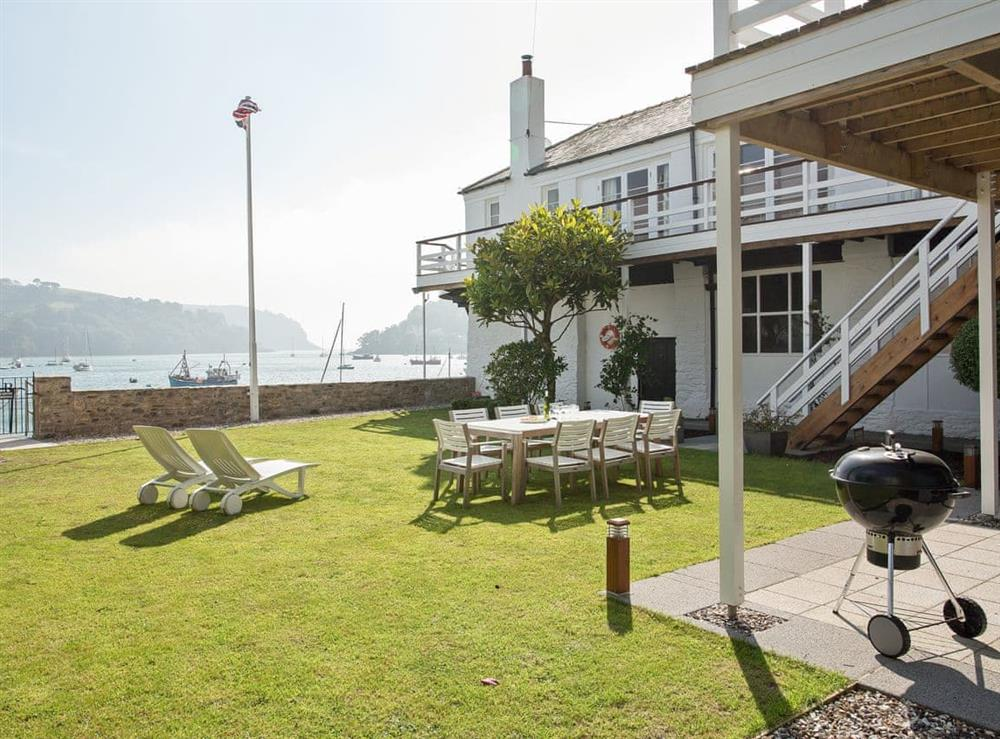 Garden at The Boat House in Dartmouth, South Devon., Great Britain