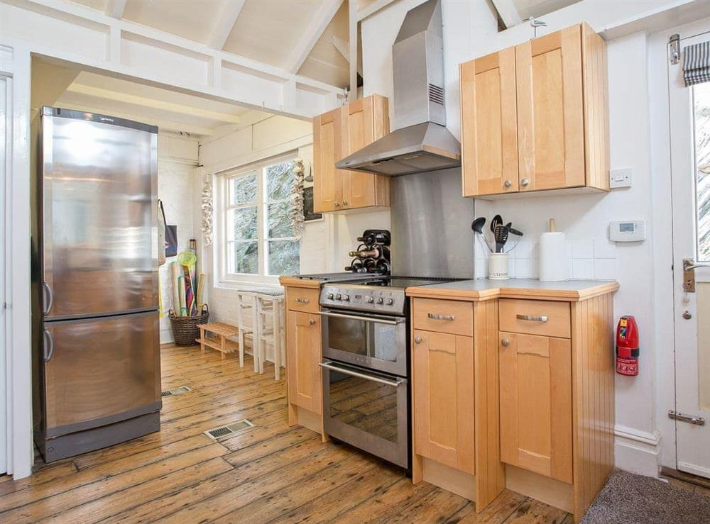 Kitchen at The Boat House in Dartmouth, South Devon., Great Britain