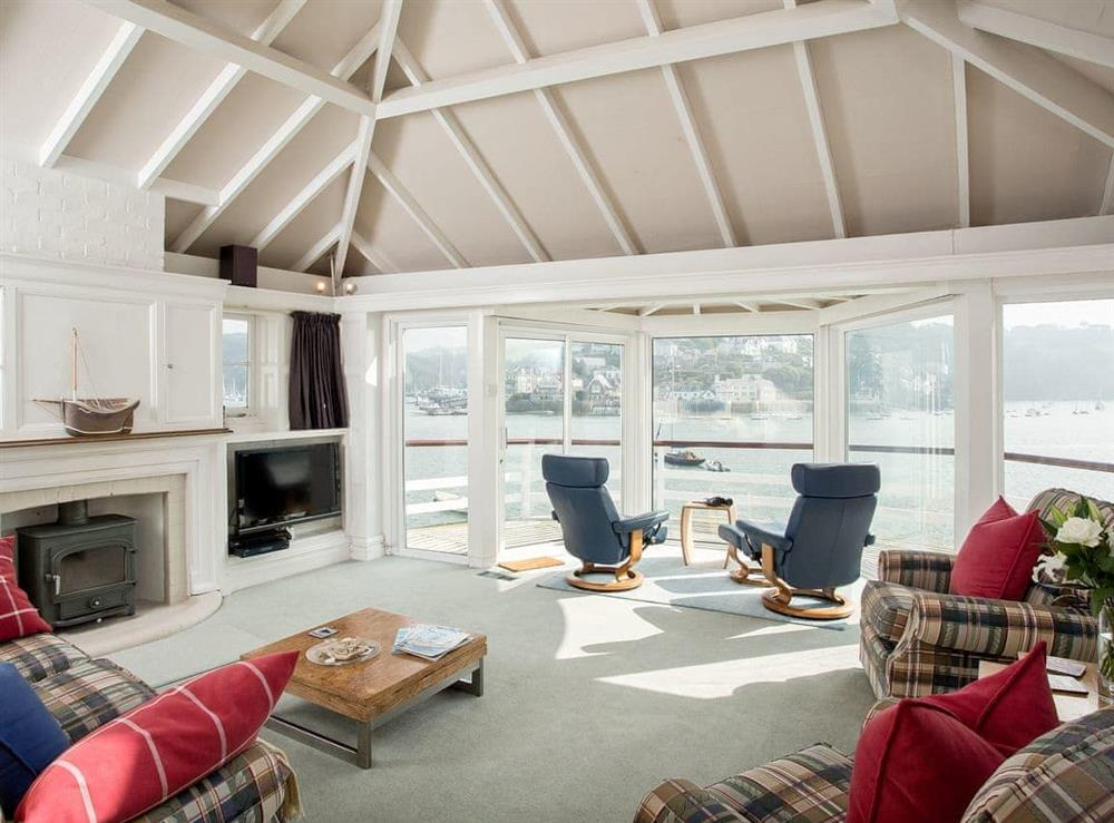 Living room at The Boat House in Dartmouth, South Devon., Great Britain
