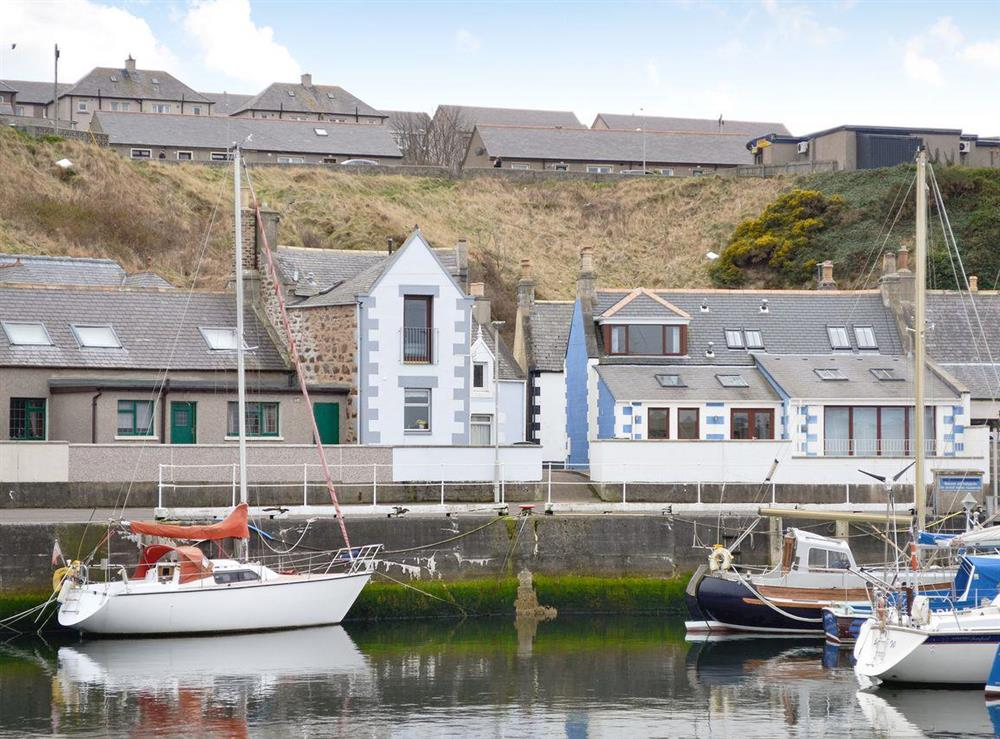 Semi-detached property overlooking the Harbour at The Boathouse in Findochty, near Buckie, Highlands, Banffshire