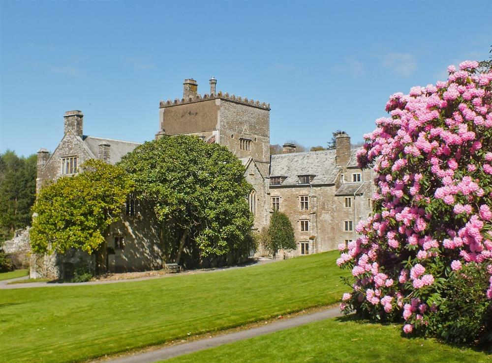 Buckland abbey on the edge of the village at The Bolt Hole  in Milton Coombe , Devon