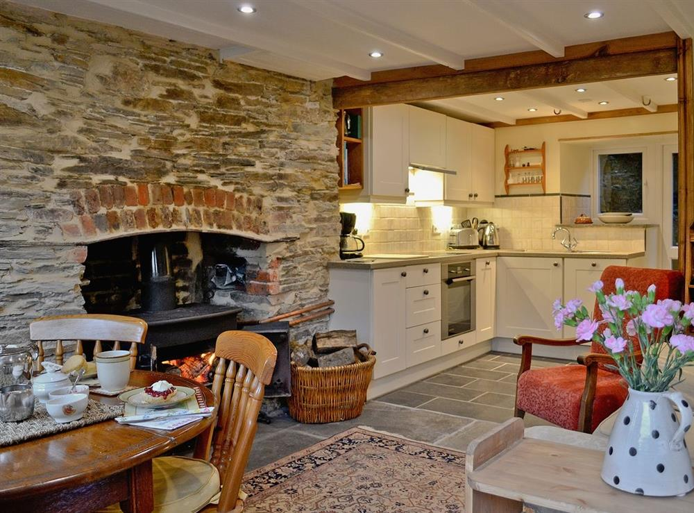 Living room/dining room at The Bolt Hole  in Milton Coombe , Devon