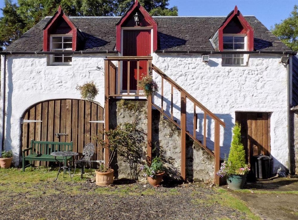 Rustic first floor apartment in traditional farm building at The Bothy at the House of Keil in Appin, Argyll