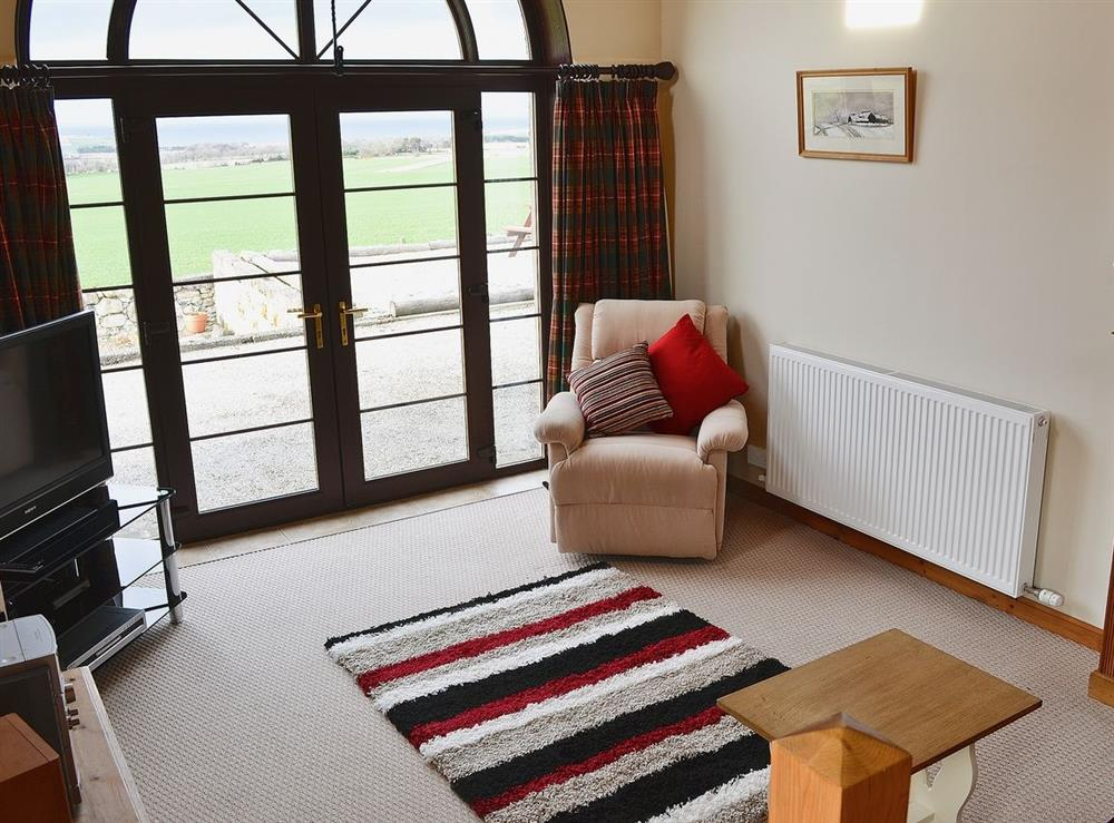 Living room at The Brae Steading in Fordyce, Aberdeenshire