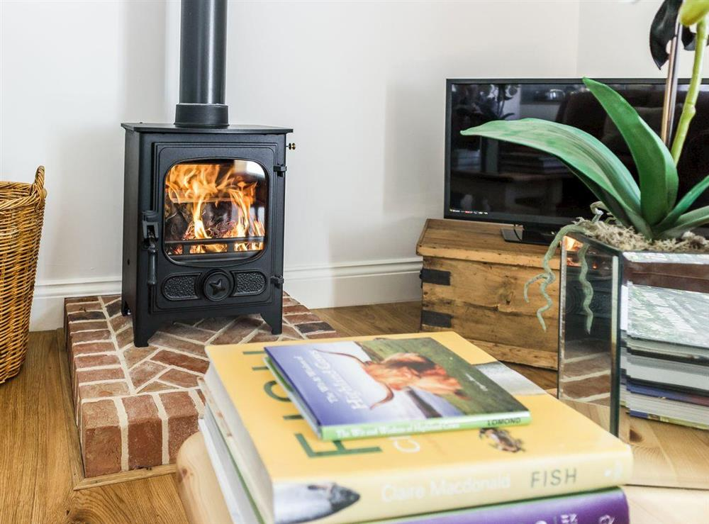 Wood burning stove at The Bull Pen in Lawford, Essex, England