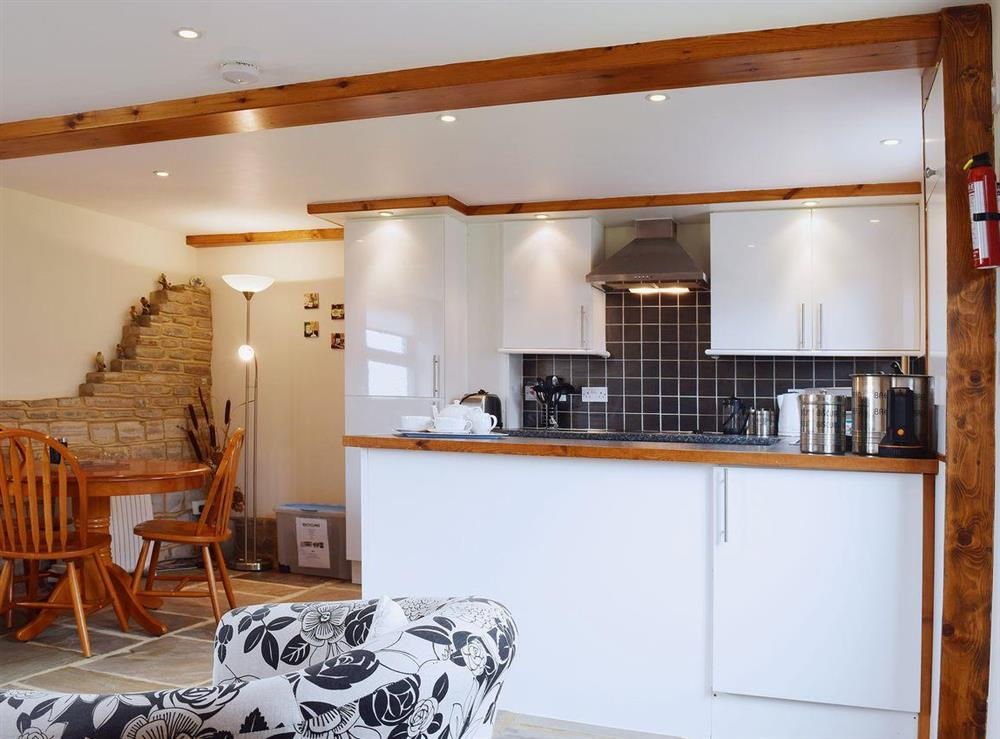 The well-equipped kitchen area at The Byre in Bidford-on-Avon, Nr Alcester., Warwickshire
