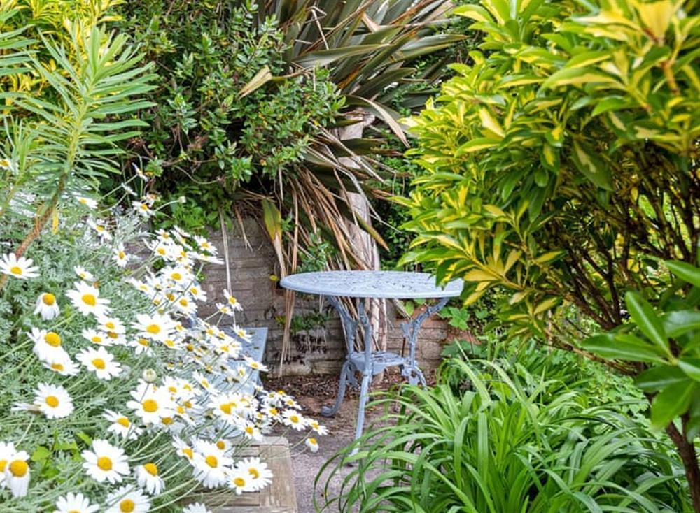 Beautiful garden at The Cabin in Dartmouth, Devon