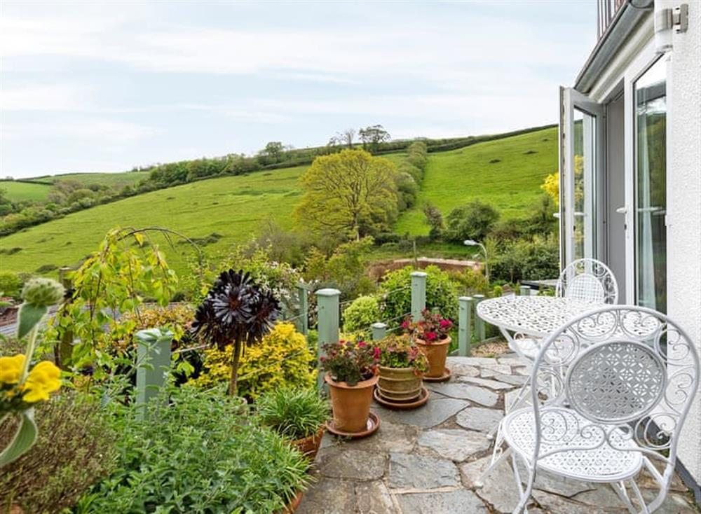 Lovely countryside views at The Cabin in Dartmouth, Devon