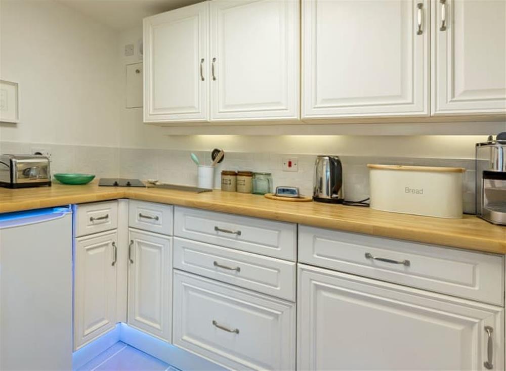 Modern kitchen at The Cabin in Dartmouth, Devon